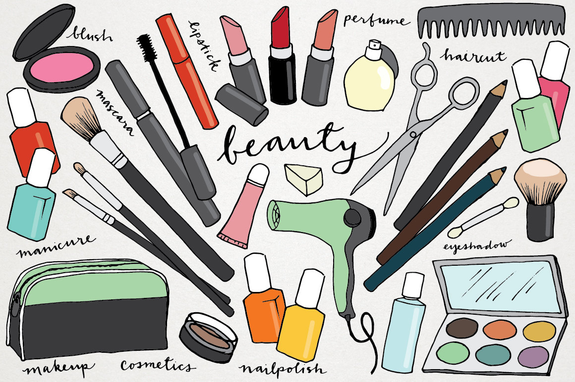 Make up items clipart.