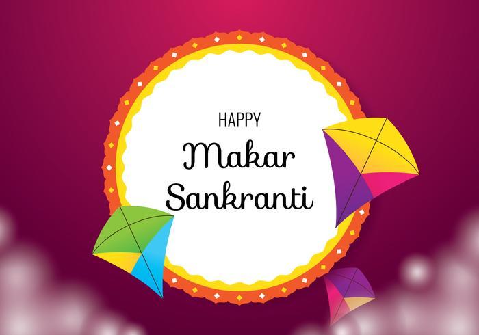 Makar Sankranti Background.