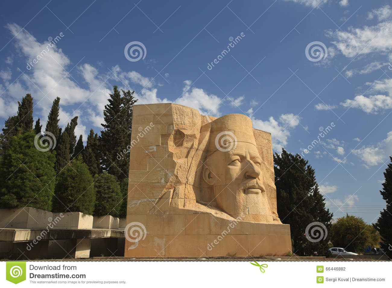 Statue Of Archbishop Makarios III In Paphos, Cyprus Stock Photo.