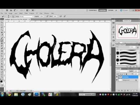 How to Make a Deathcore Logo in Photoshop.
