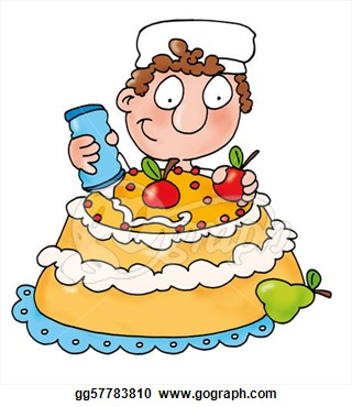 17473 Cake free clipart.