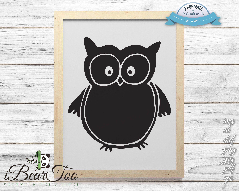 Owl SVG, Clipart Vector, Sketch for Download, Owl Vector.