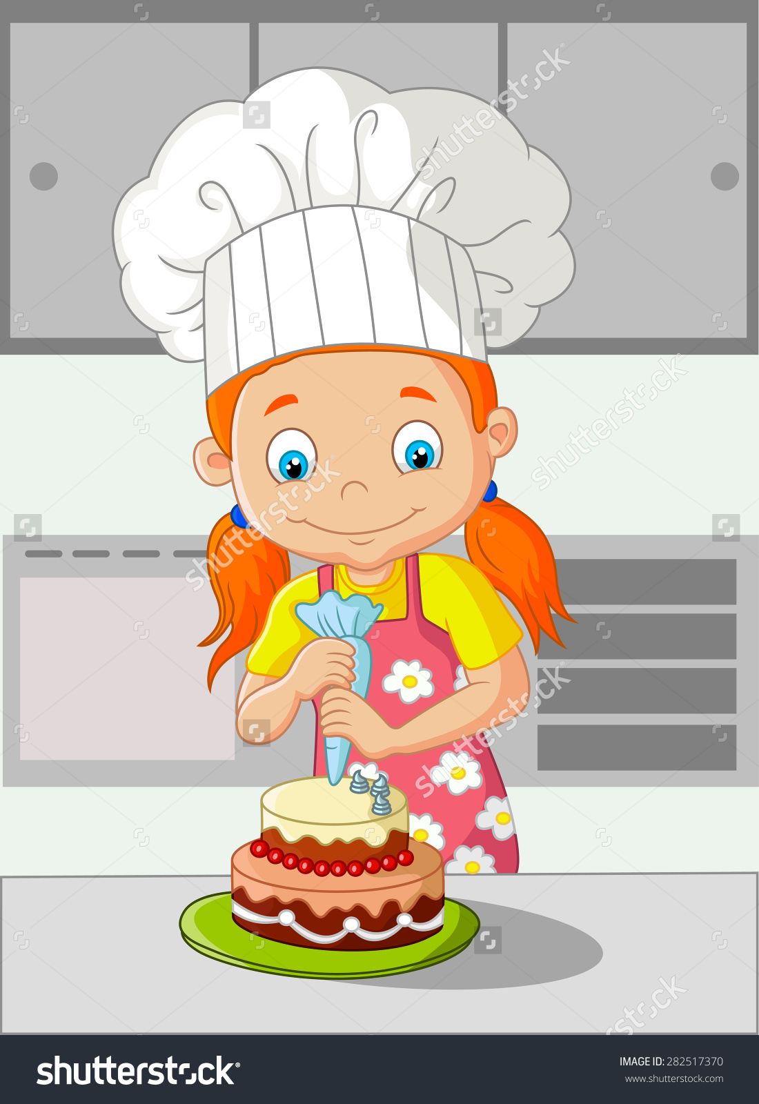 Making Cake Clipart.