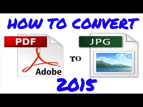 How To Convert PDF To JPG.