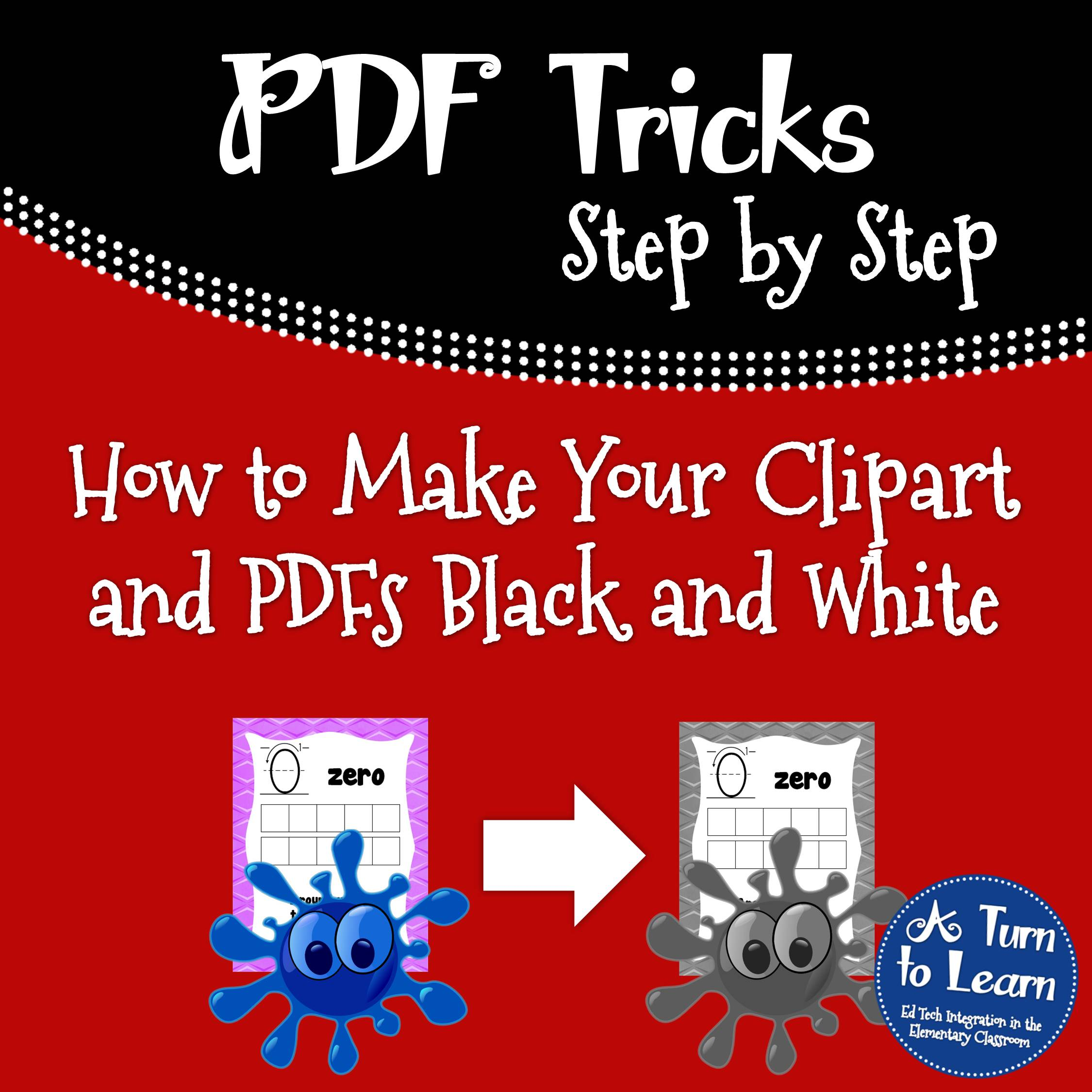 How to Make Your Clipart and PDFs Black and White! • A Turn.