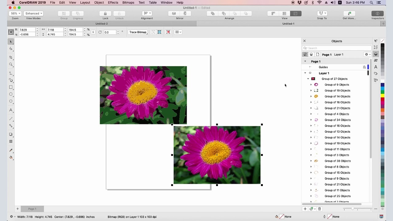 How to Make Clipart from a Photo in CorelDRAW (Mac).