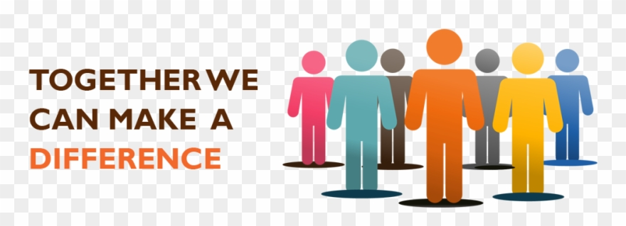 Together We Can Make A Difference Clipart.
