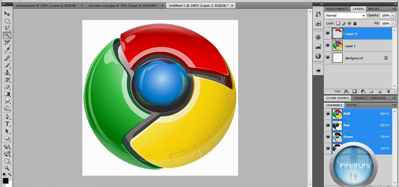 How to Make a professional Google Chrome logo in Photoshop.
