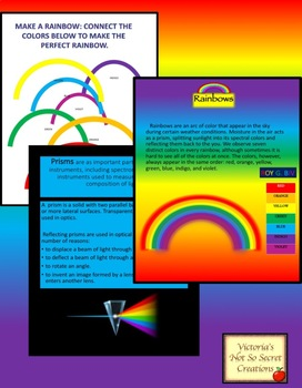 Rainbow Bundle Brief PPT AND PDF Activity AND CLIPART.