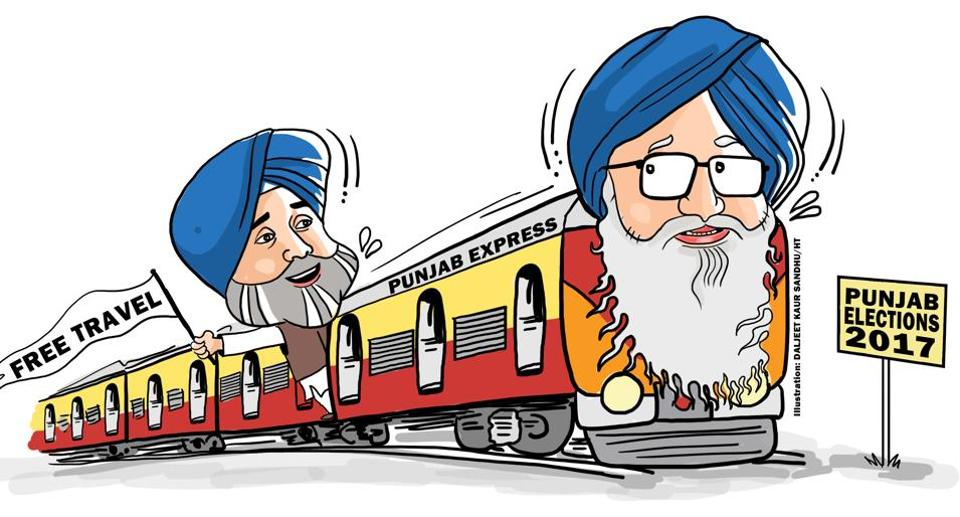 Eye on elections, Badal takes Punjab on an all.