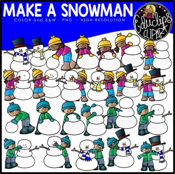 Make A Snowman Clip Art Set {Educlips Clipart}.