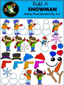 How To Make A Snowman Clip Art.