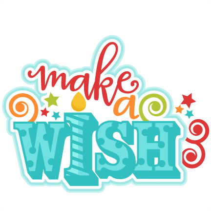 Make a wish clipart.