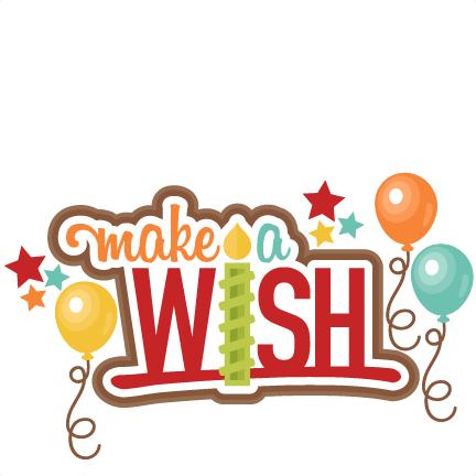 Make A Wish Title clip art SVG scrapbook cut file cute clipart.