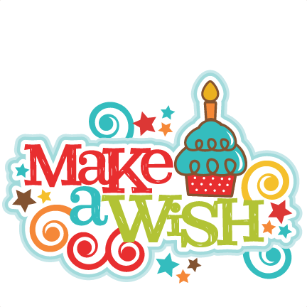 Make a Wish Title SVG scrapbook cut file cute clipart files for.