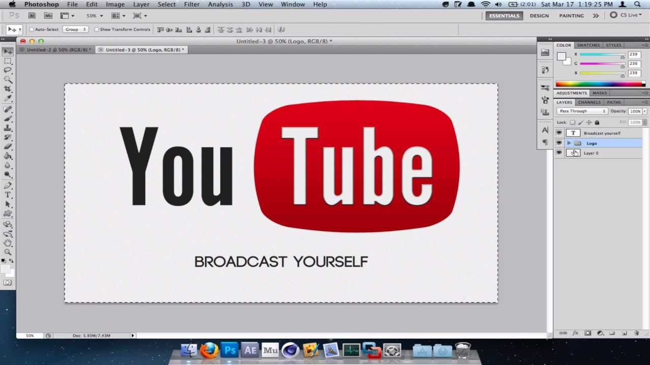 How to make the Youtube Logo in Photoshop.