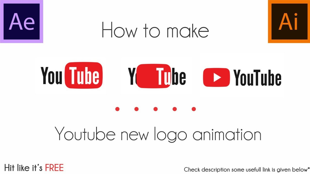 How to make YouTube new logo animation 2017.