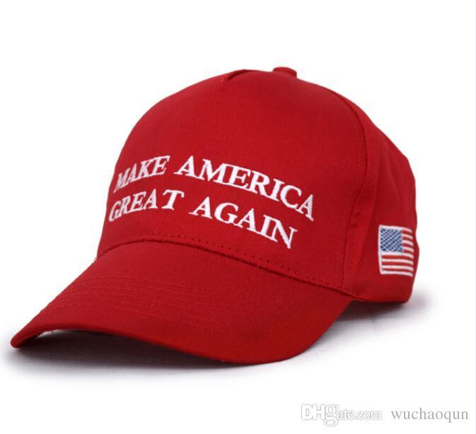 Hot sell Baseball Caps Make America Great Again Hat Donald Trump Republican  Snapback Sports Hats USA Flag Mens Womens Fashion Cap.