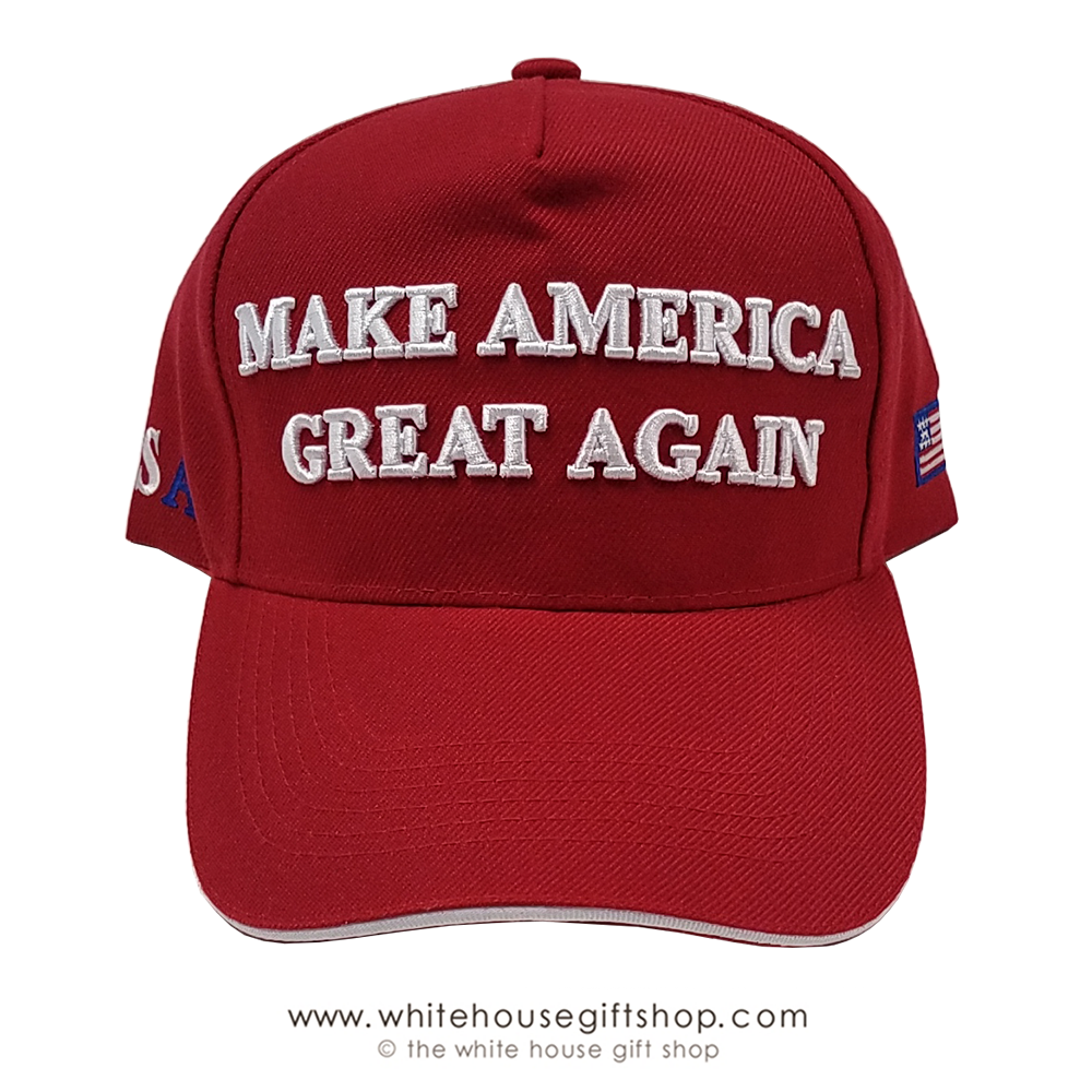 Make America Great Again Hat, MAGA CAPS in Red, Black, White, or Camo,  Imported Cap.