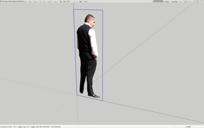 Using Cut Out People in SketchUp.