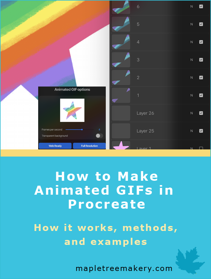 How to Make Animated GIFs in Procreate.