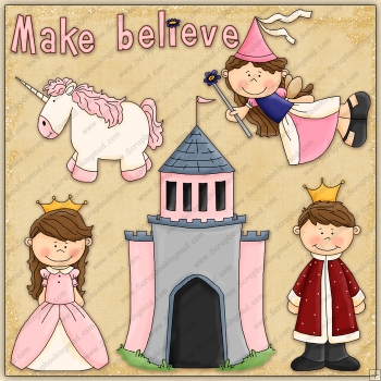 Make Believe ClipArt Graphic Collection.
