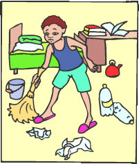 Clean bed clipart.