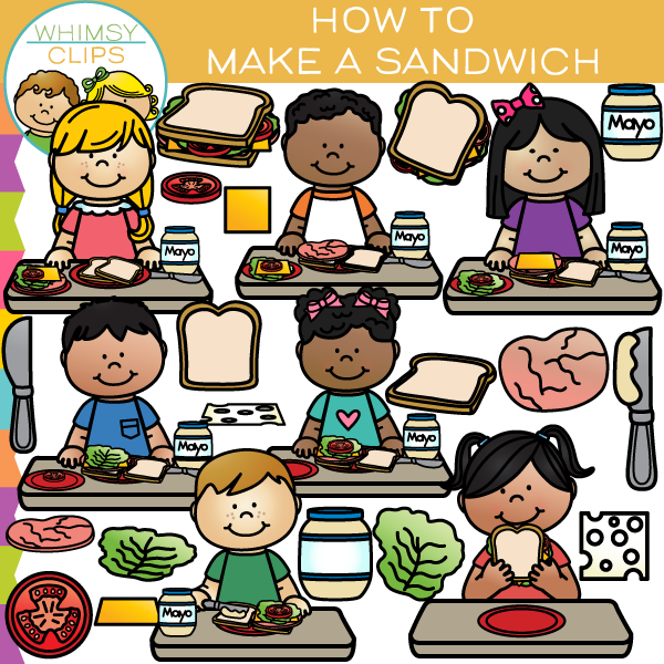 How to Make a Sandwich Clip Art , Images & Illustrations.
