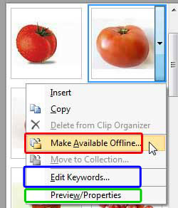 Make clipart available offline.