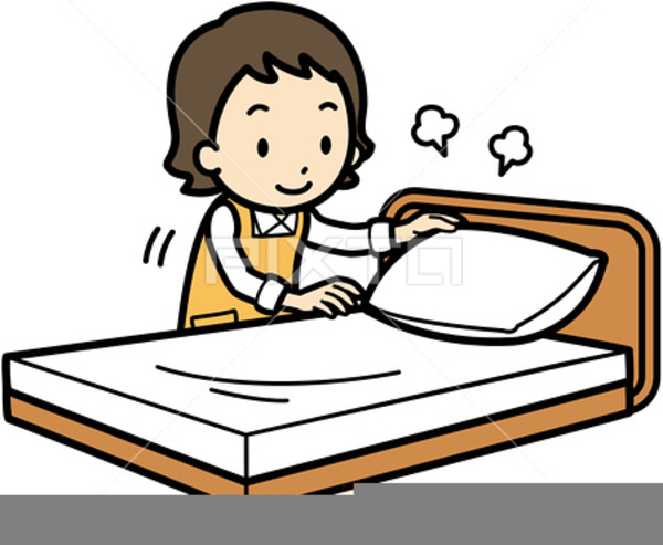 Making A Bed Clipart.