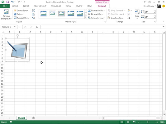 How to Edit and Format Inserted Pictures in Excel 2013.
