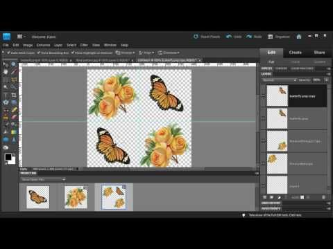Photoshop Elements: Make a Diagonal Pattern from Clipart.