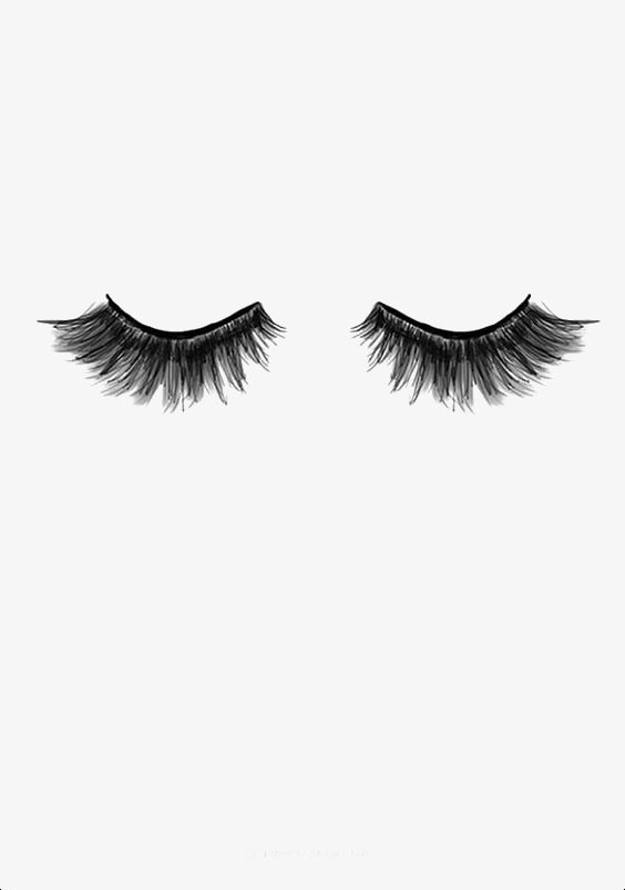 Eyelash, Make Up PNG Transparent Clipart Image and PSD File.