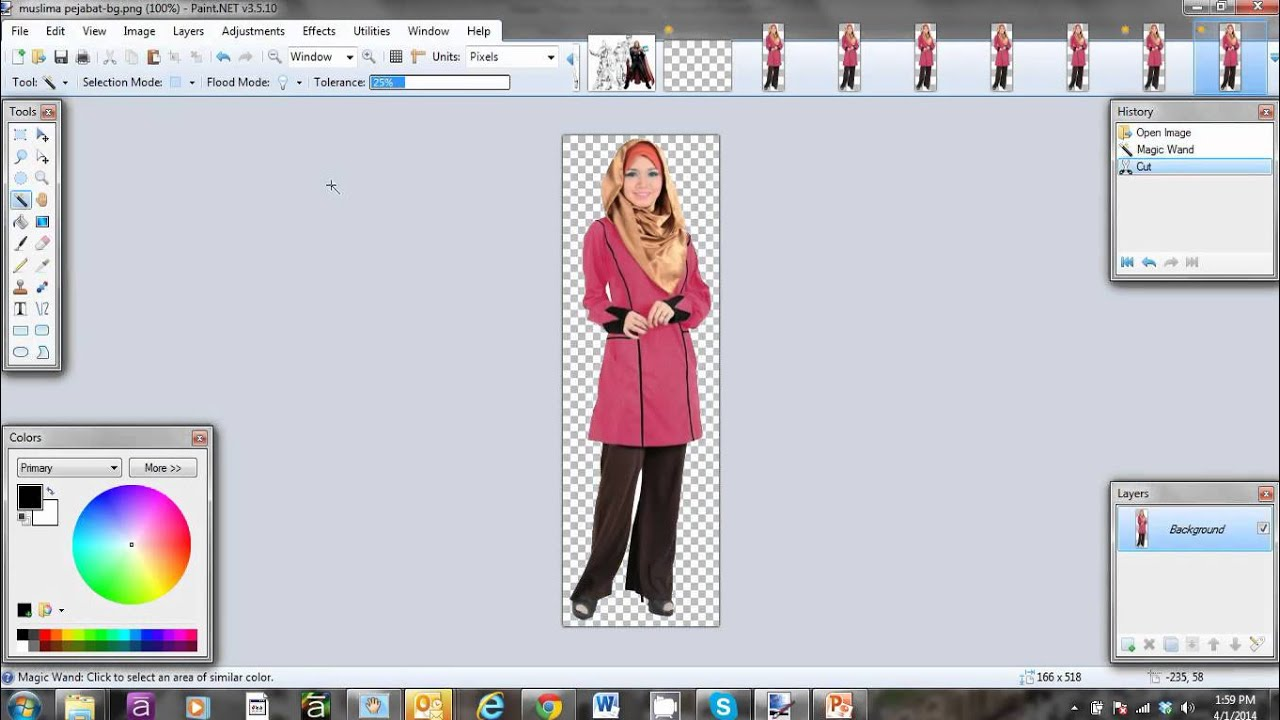Change image background to Transparent using Paint.NET.