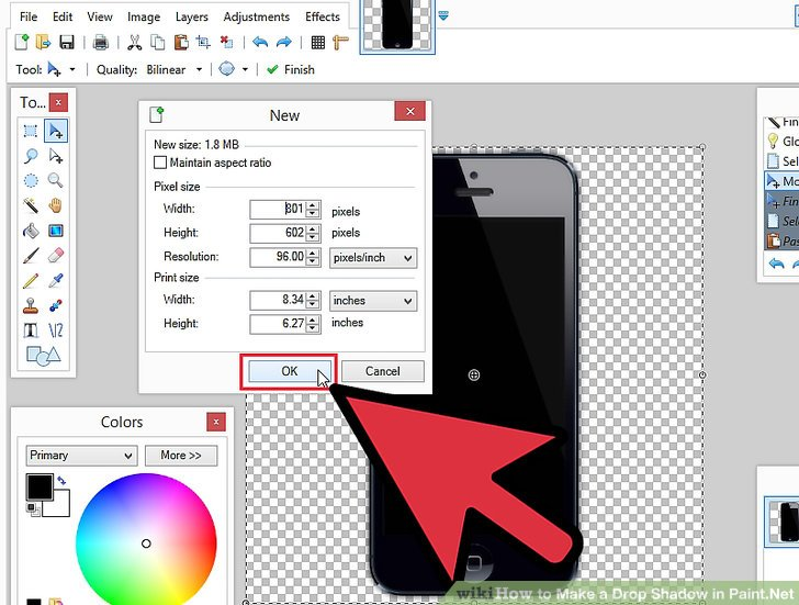 How to Make a Drop Shadow in Paint.Net: 11 Steps (with Pictures).