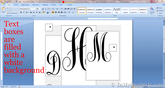How To Make Overlapping Letters In Microsoft Word