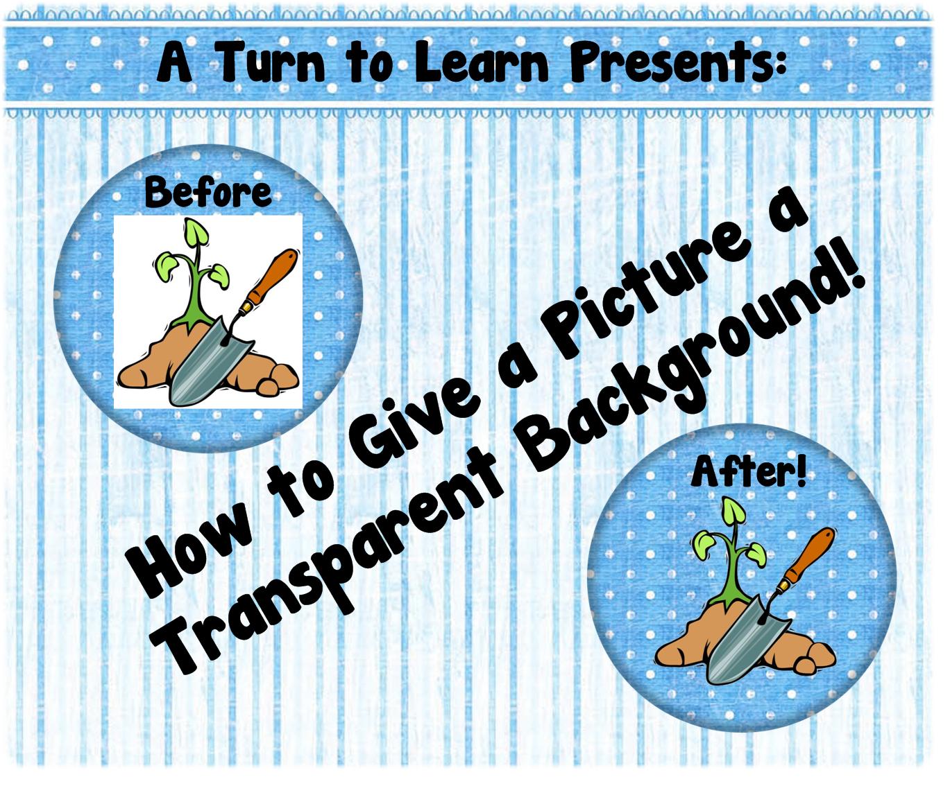 Make Clipart Transparent.