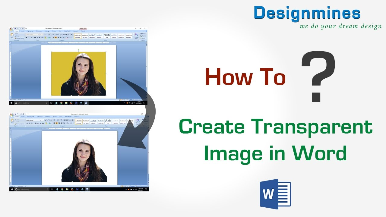 How to Create Transparent Image in Word.