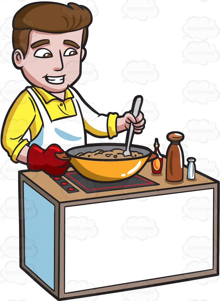 Making Dinner Clipart.