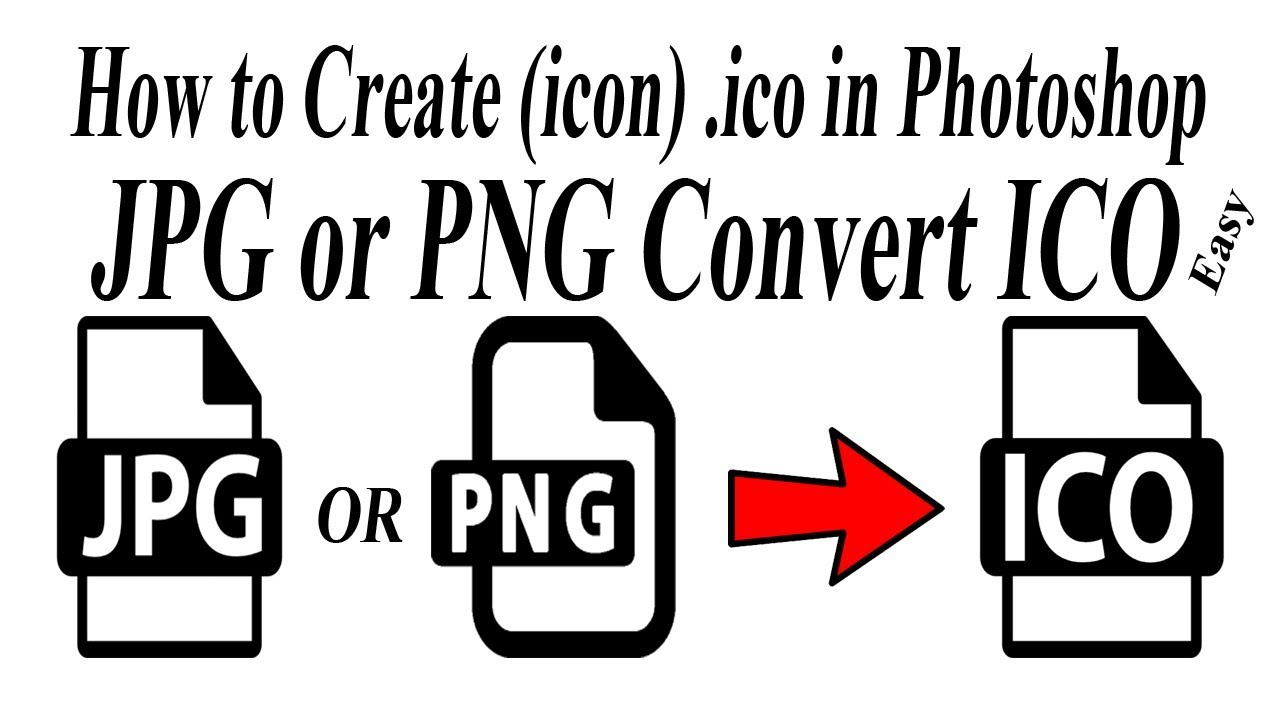 How to convert jpg or png to .ico (icon) file.