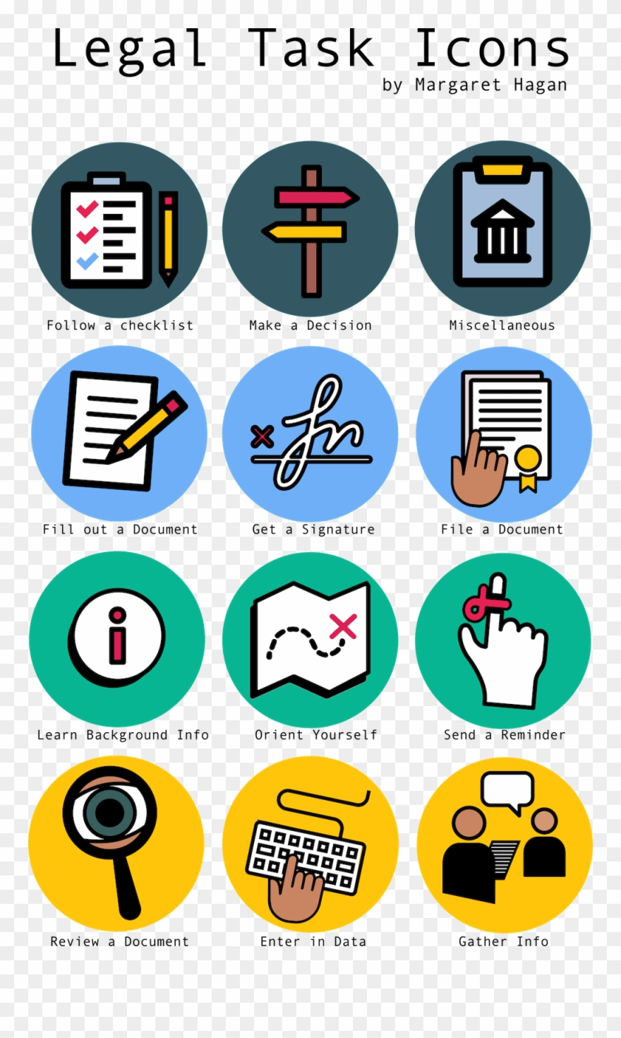Legal Icons For Tasks.