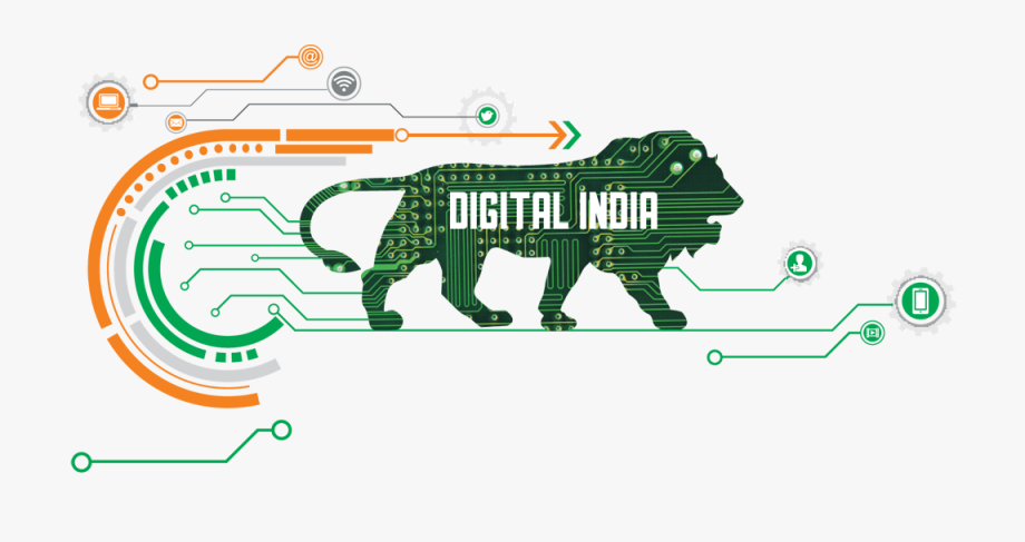 Digital India And Make In India , Transparent Cartoon, Free.