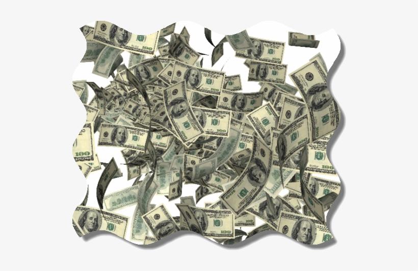 Raining Money Transparent.