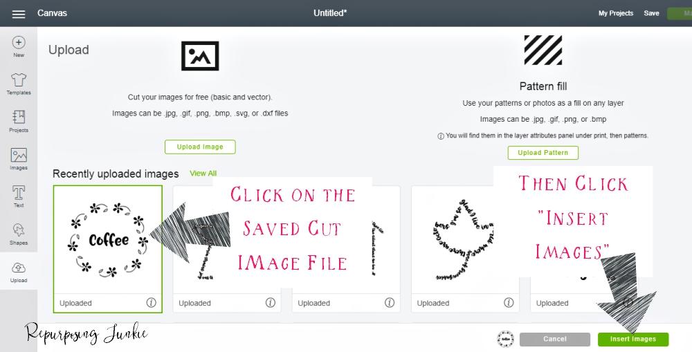 Making JPEG Files into Cut Files in Cricut Design Space.