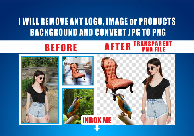 make logo,and images transparent,png background just 1 hrs.