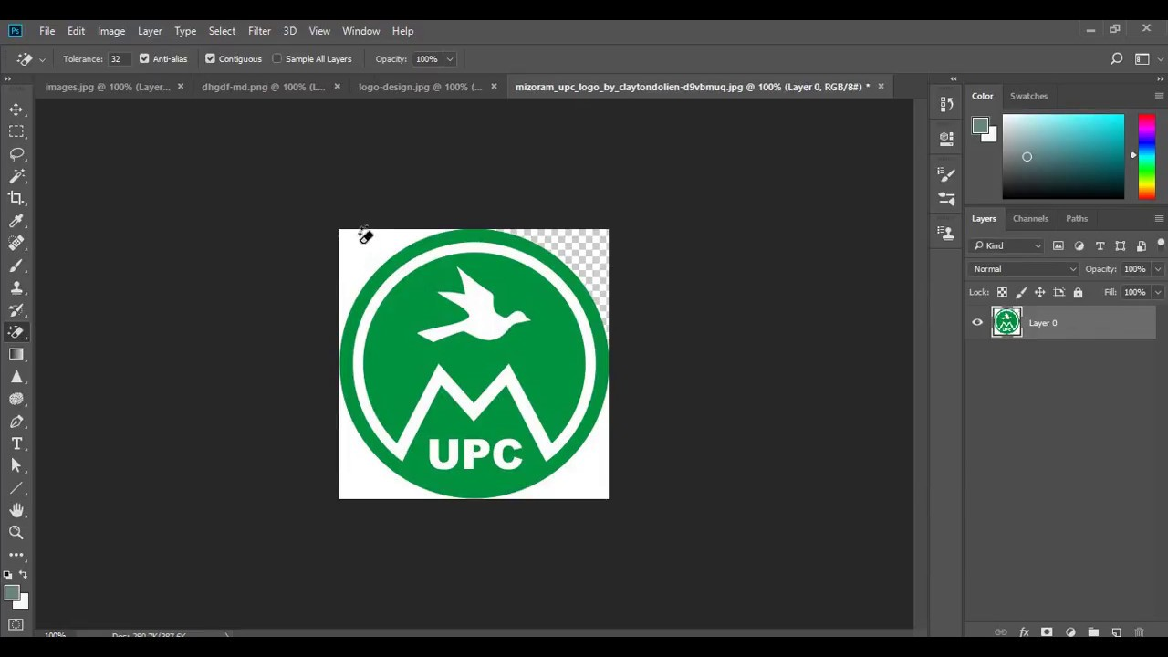 How to make transparent logo without any selection & How to convert jpeg  image into png image #2.