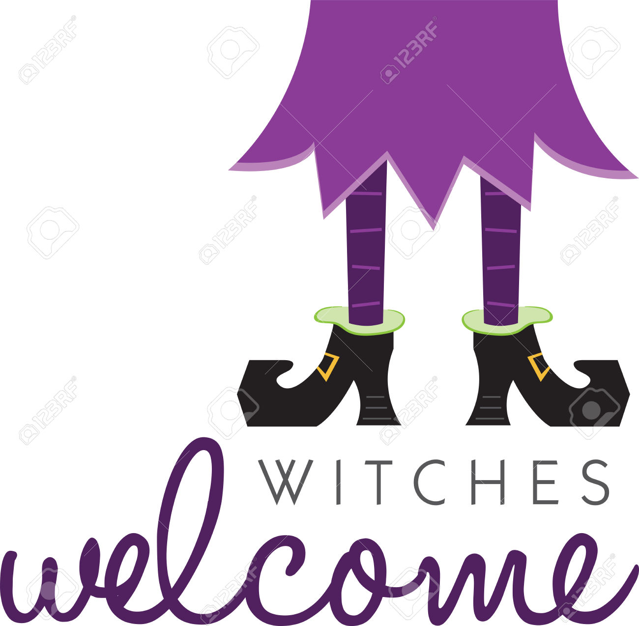 Witch Legs Will Make A Great Halloween Decoration. Royalty Free.
