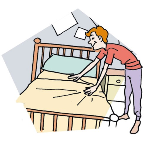 Make My Bed Clipart.