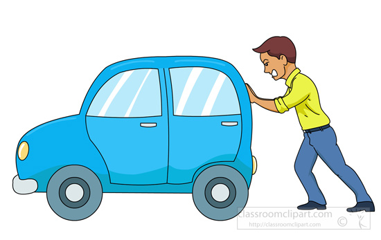 Make meme with Pushing Car Clipart.