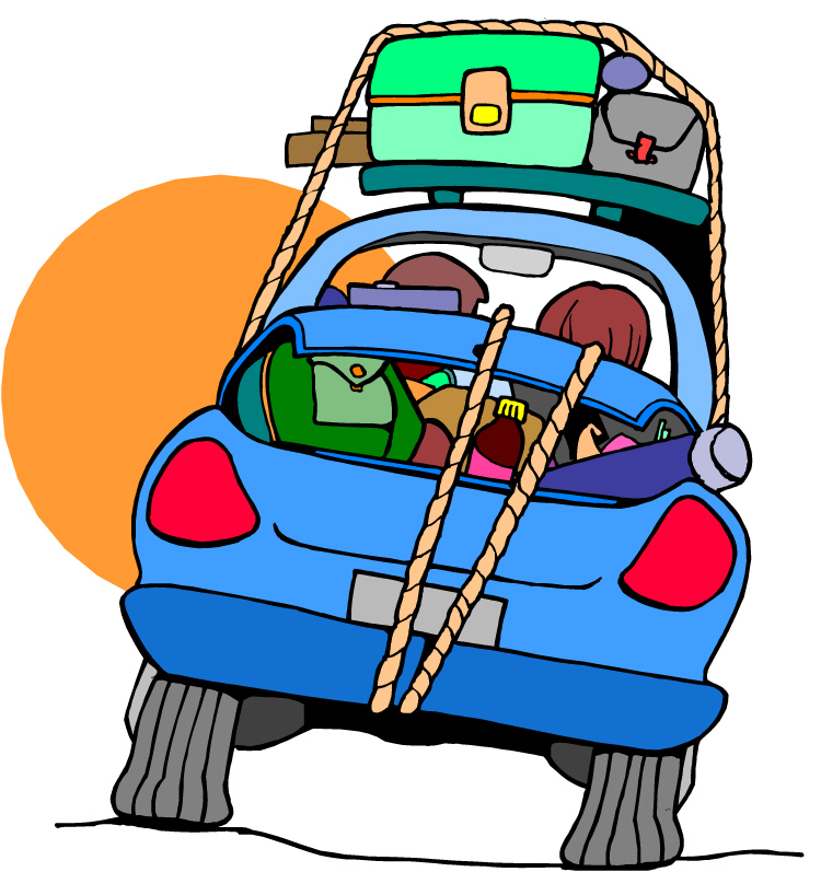 Packed car clipart.